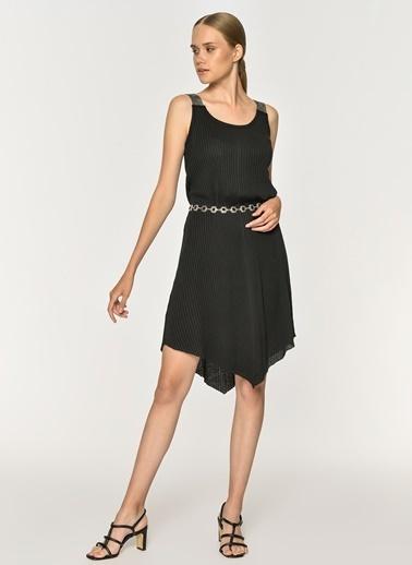 Loves You Askısı Pırıltılı Kaşkorse Çan Elbise Siyah